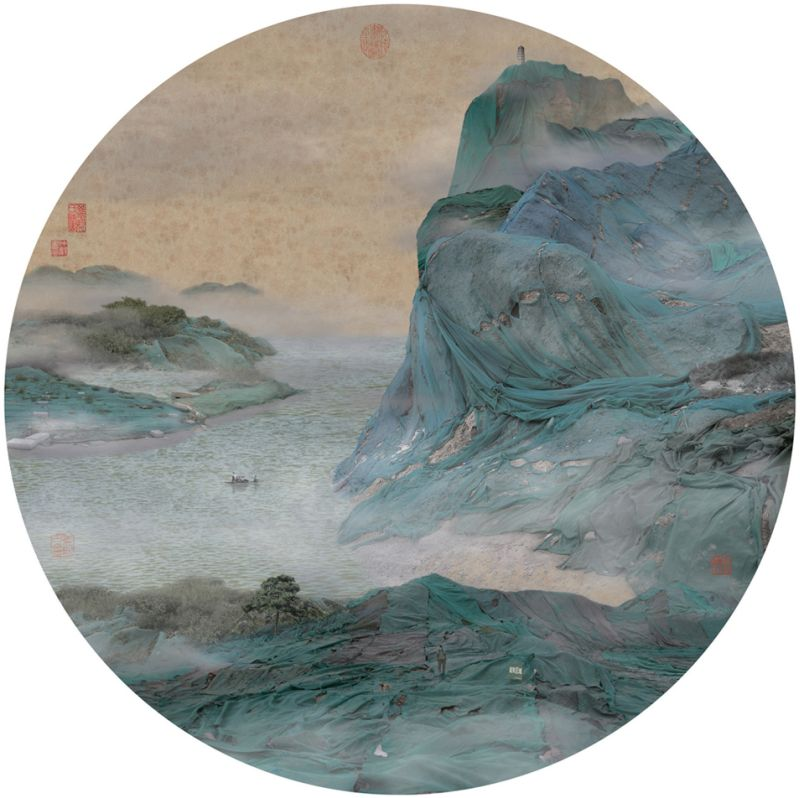 06-clear cliff shrouded in floating clouds, 2007